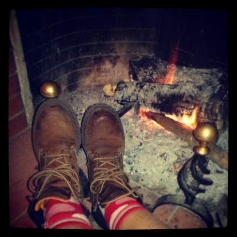 accanto al fuoco...senza fare la fine di Pinocchio ;-)